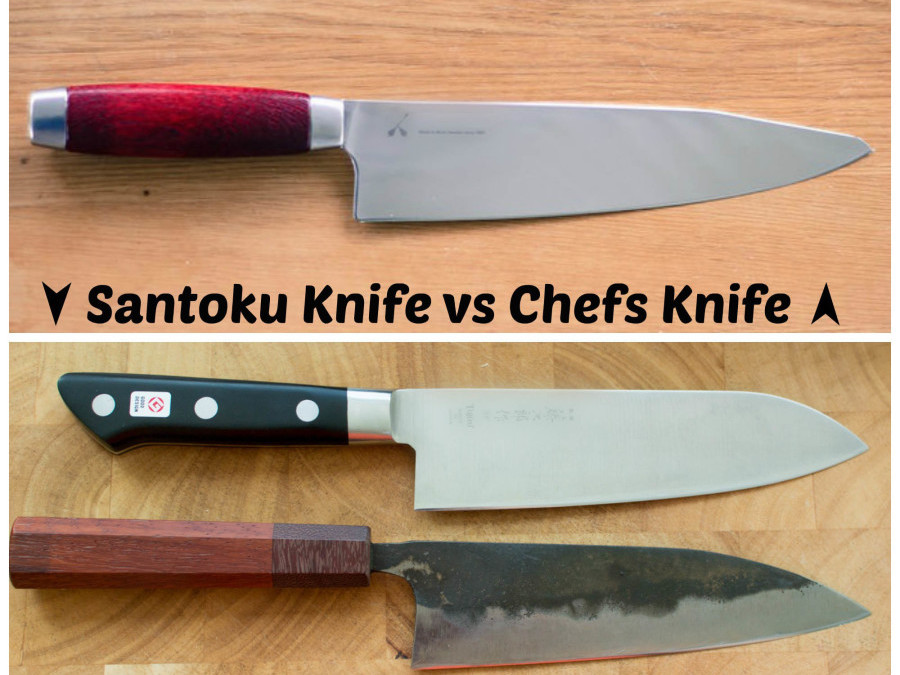 chef s knife vs santoku knife anatomy of a knife knife skills part 1 eat think be learn from. Black Bedroom Furniture Sets. Home Design Ideas